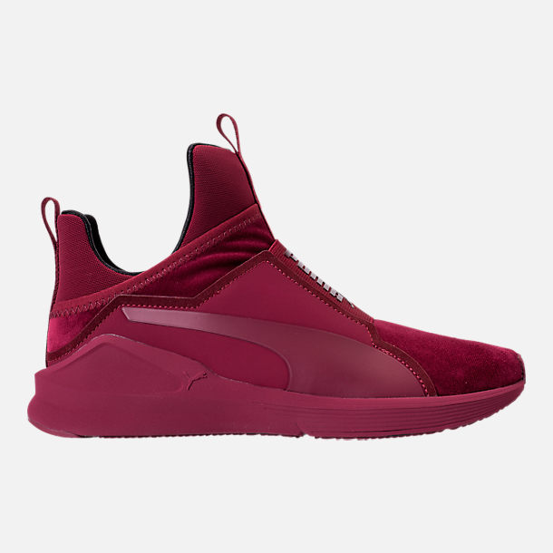 Right view of Women's Puma Fierce Velvet Training Shoes in Cordovan