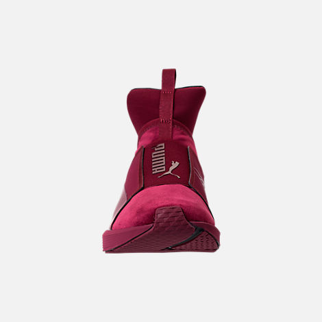 Front view of Women's Puma Fierce Velvet Training Shoes in Cordovan