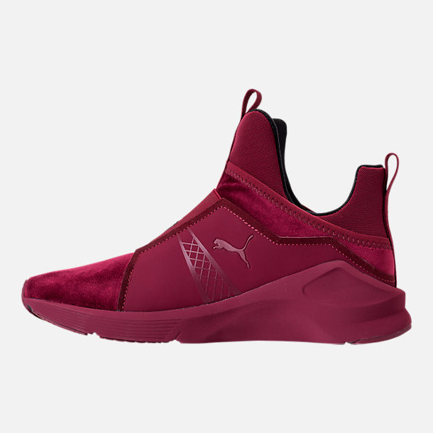Left view of Women's Puma Fierce Velvet Training Shoes in Cordovan