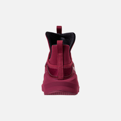 Back view of Women's Puma Fierce Velvet Training Shoes in Cordovan