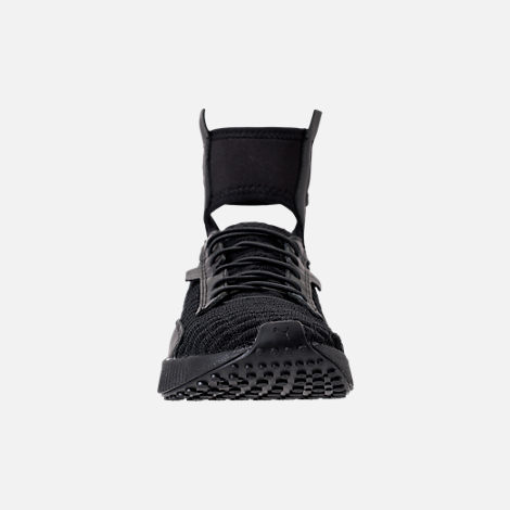 Front view of Women's Puma x Rihanna Fenty Trainer Mid Casual Shoes in Black