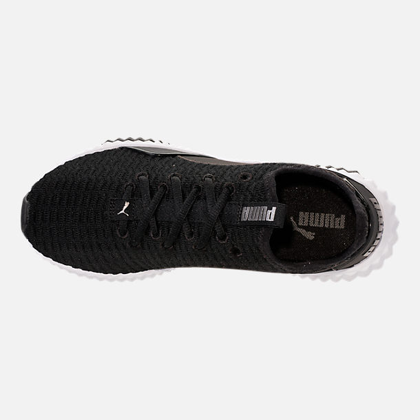 Top view of Women's Puma Defy Casual Shoes in Black/White
