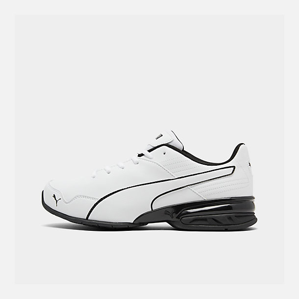 Right view of Men's Puma Super Levitate Running Shoes in White/Black