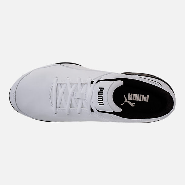 Top view of Men's Puma Super Levitate Running Shoes in White/Black