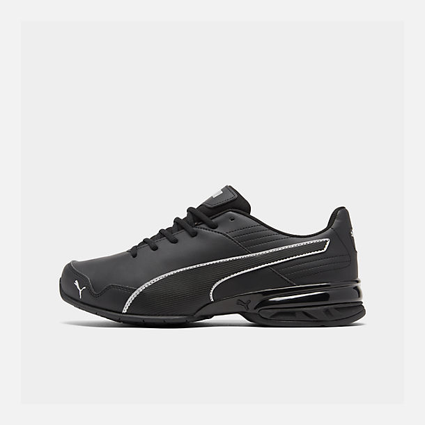 Right view of Men's Puma Super Levitate Running Shoes in Black/White