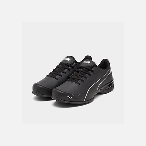 Three Quarter view of Men's Puma Super Levitate Running Shoes in Black/White