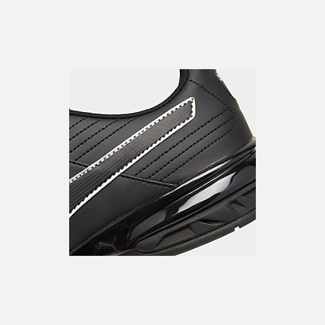 Front view of Men's Puma Super Levitate Running Shoes in Black/White