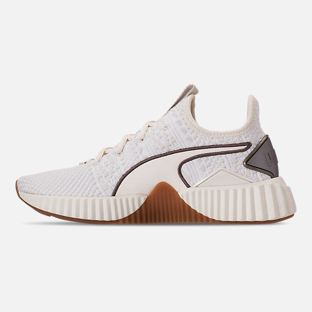 b76eba43f212ce Left view of Women s Puma Defy Luxe Casual Shoes in Whisper White Metallic  Ash
