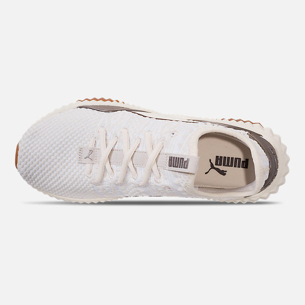 68753f426b6928 Top view of Women s Puma Defy Luxe Casual Shoes in Whisper White Metallic  Ash
