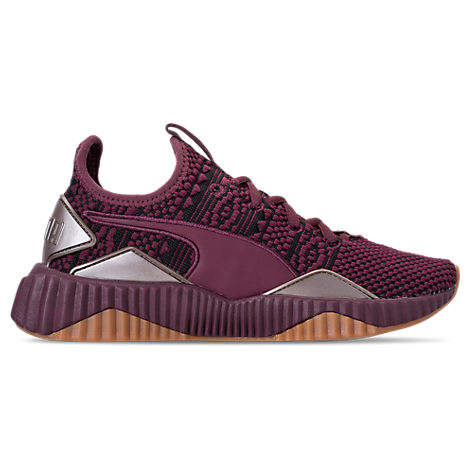 Women'S Defy Luxe Knit Low-Top Sneakers in Purple from Finish Line