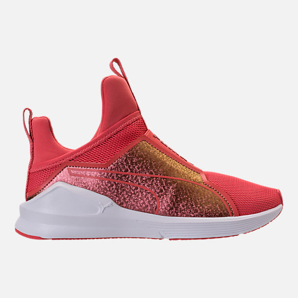 Right view of Girls' Grade School Puma Fierce Training Shoes in Spiced Coral