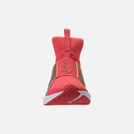 Front view of Girls' Grade School Puma Fierce Training Shoes in Spiced Coral