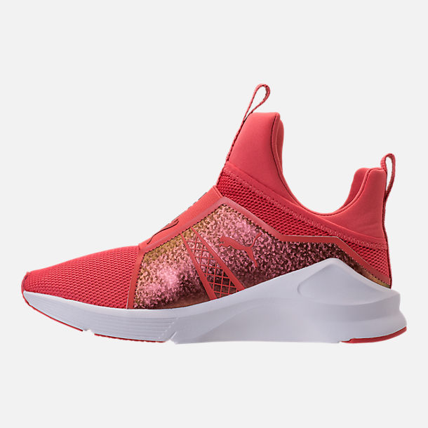 Left view of Girls' Grade School Puma Fierce Training Shoes in Spiced Coral