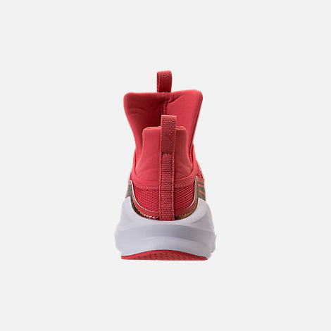 Back view of Girls' Grade School Puma Fierce Training Shoes in Spiced Coral