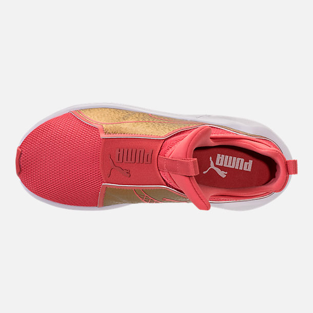 Top view of Girls' Grade School Puma Fierce Training Shoes in Spiced Coral