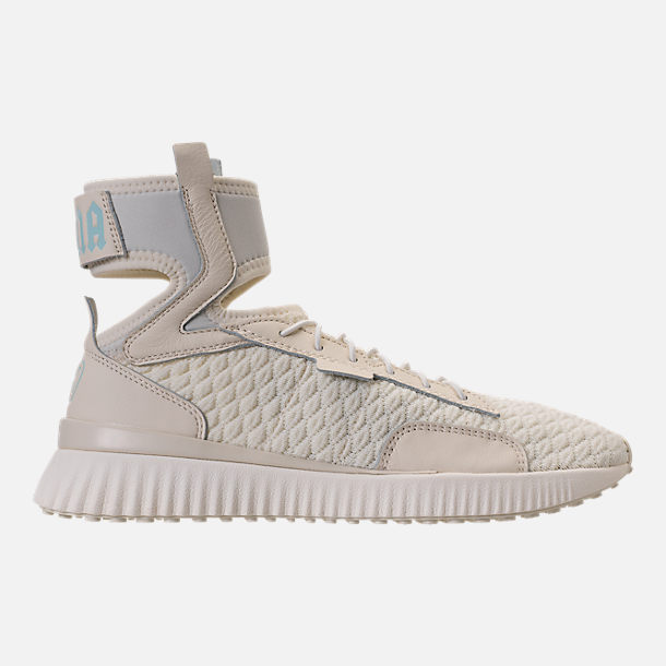 Right view of Women's Puma x Rihanna Fenty Trainer Mid Geo Casual Shoes in Vanilla Ice/Sterling Blue