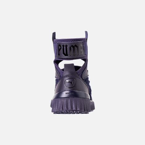 Back view of Women's Puma x Rihanna Fenty Trainer Mid Geo Casual Shoes