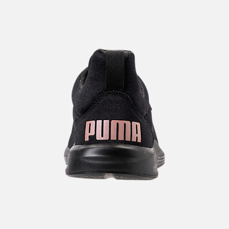Back view of Women's Puma Prodigy Training Shoes in Puma Black/Rose Gold