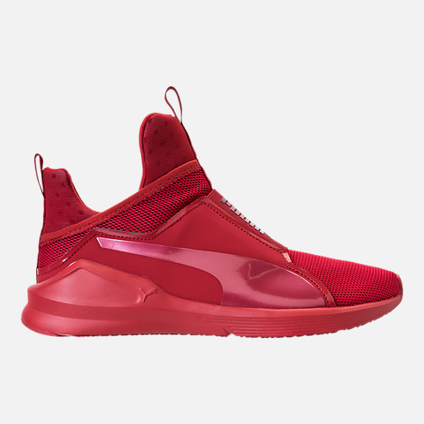 Right view of Unisex Puma Fierce Core Mono Casual Shoes in Red/Metallic
