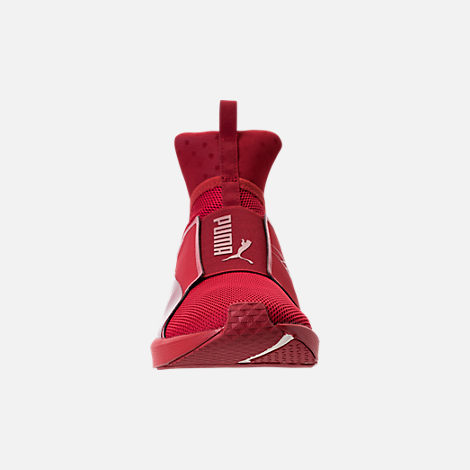 Front view of Unisex Puma Fierce Core Mono Casual Shoes in Red/Metallic