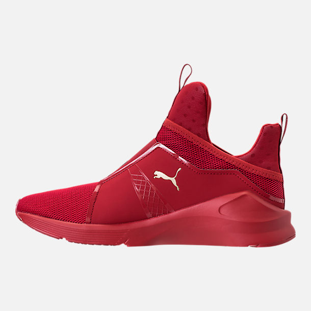 Left view of Unisex Puma Fierce Core Mono Casual Shoes in Red/Metallic