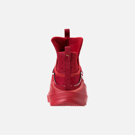 Back view of Unisex Puma Fierce Core Mono Casual Shoes in Red/Metallic