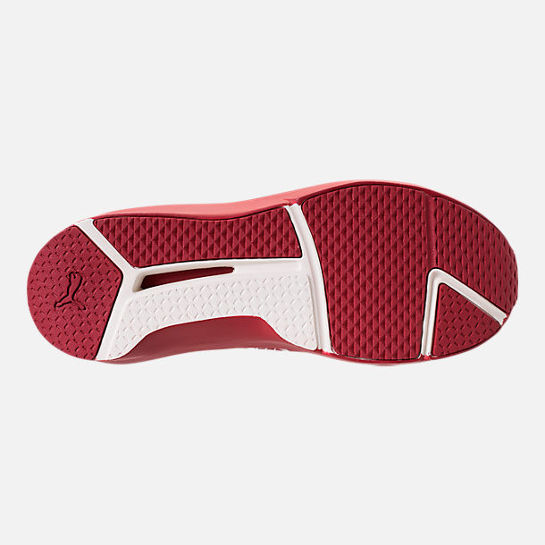 Bottom view of Unisex Puma Fierce Core Mono Casual Shoes in Red/Metallic
