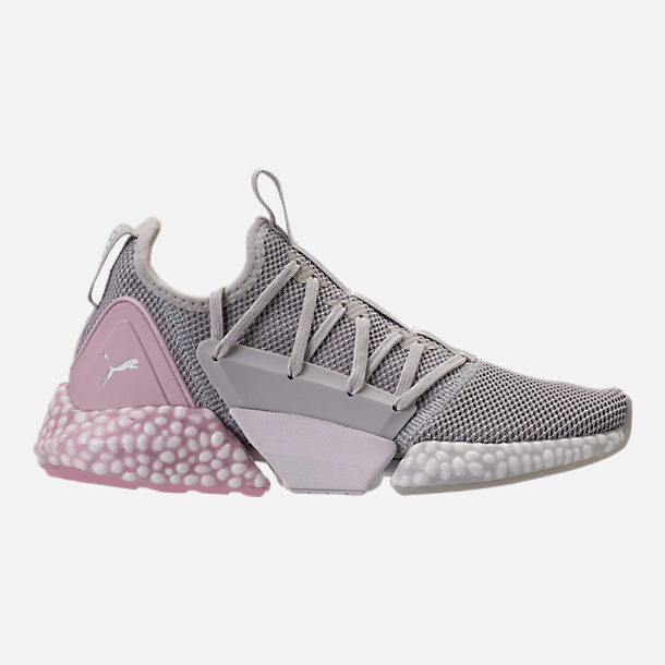 e77bf329ffa5 Right view of Women s Puma Hybrid Rocket Runner Casual Shoes in Glacier Grey Winsome  Orchid