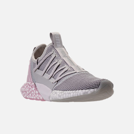 Three Quarter view of Women's Puma Hybrid Rocket Runner Casual Shoes in Glacier Grey/Winsome Orchid/White