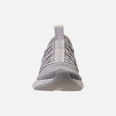Front view of Women's Puma Hybrid Rocket Runner Casual Shoes in Glacier Grey/Winsome Orchid/White