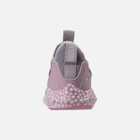Back view of Women's Puma Hybrid Rocket Runner Casual Shoes in Glacier Grey/Winsome Orchid/White