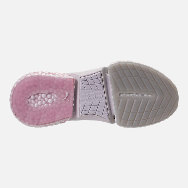 Bottom view of Women's Puma Hybrid Rocket Runner Casual Shoes in Glacier Grey/Winsome Orchid/White
