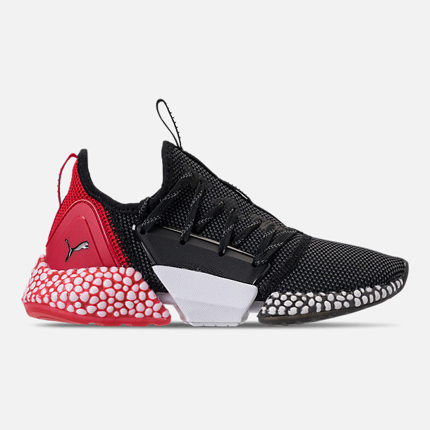 Right view of Boys' Big Kids' Puma Hybrid Rocket Runner Casual Shoes in Puma Black/Ribbon Red