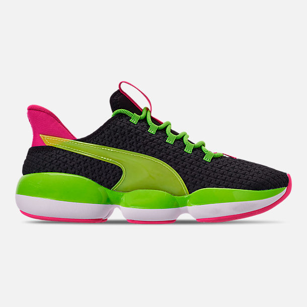 Right view of Women's Puma Mode XT Casual Shoes in Black/Lime Punch/Fuchsia Purple