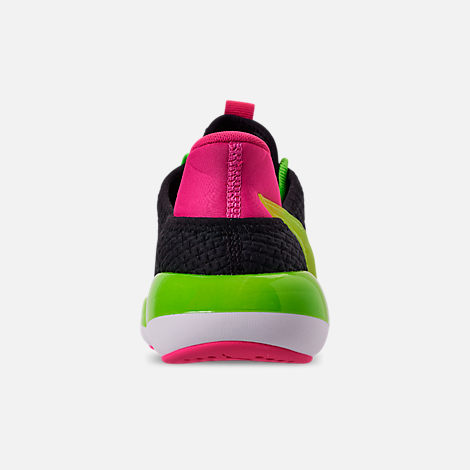 Back view of Women's Puma Mode XT Casual Shoes in Black/Lime Punch/Fuchsia Purple