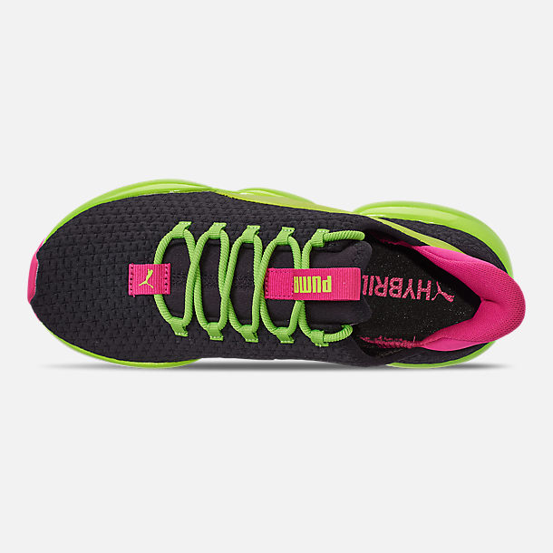 Top view of Women's Puma Mode XT Casual Shoes in Black/Lime Punch/Fuchsia Purple