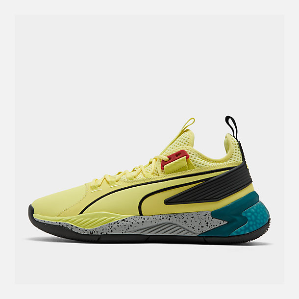 newest b08c3 0c8af Right view of Men s Puma Uproar Spectra Basketball Shoes in  Limelight Black White