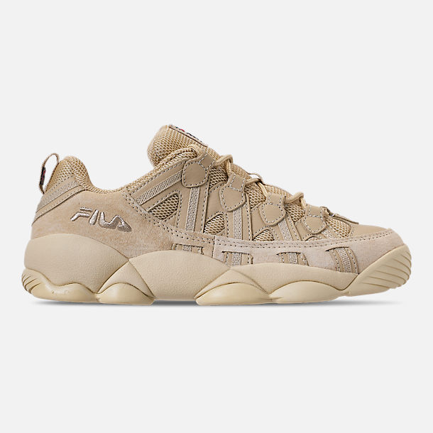 Right view of Men's FILA Spaghetti Low Basketball Shoes in Tan/Cream