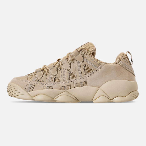Left view of Men's FILA Spaghetti Low Basketball Shoes in Tan/Cream