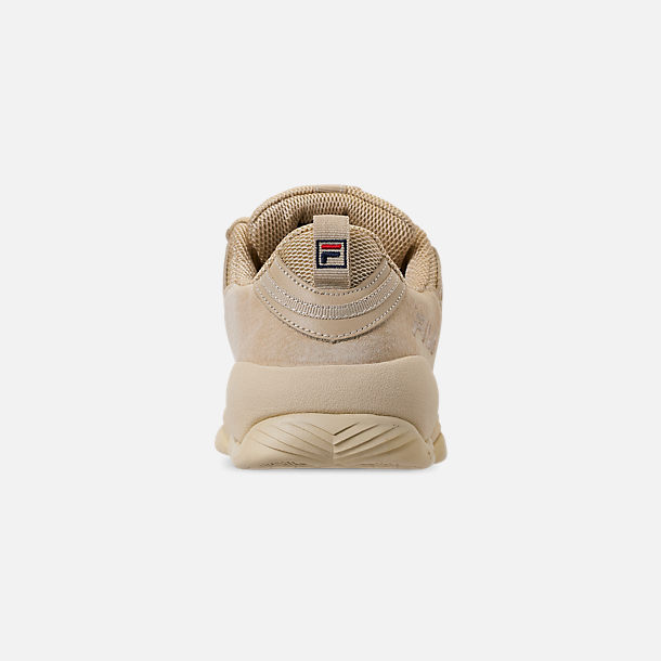 Back view of Men's FILA Spaghetti Low Basketball Shoes in Tan/Cream