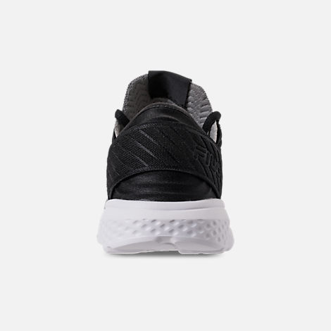 Back view of Men's Fila Fondato 3 Running Shoes in Black/Dark Shadow