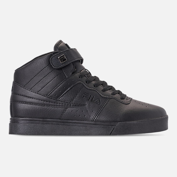Right view of Men's FILA Vulc 13 Mid Plus Casual Shoes in Black
