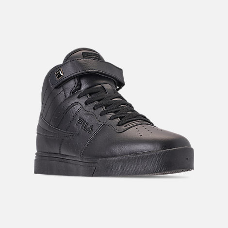 Three Quarter view of Men's FILA Vulc 13 Mid Plus Casual Shoes in Black