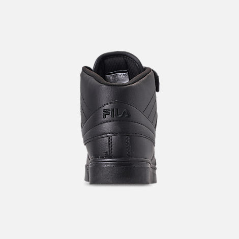 Back view of Men's FILA Vulc 13 Mid Plus Casual Shoes in Black