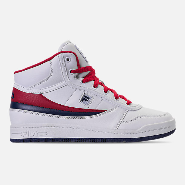 Right view of Men's Fila BBN 84 NS Casual Shoes in White/Footwear Navy/Red