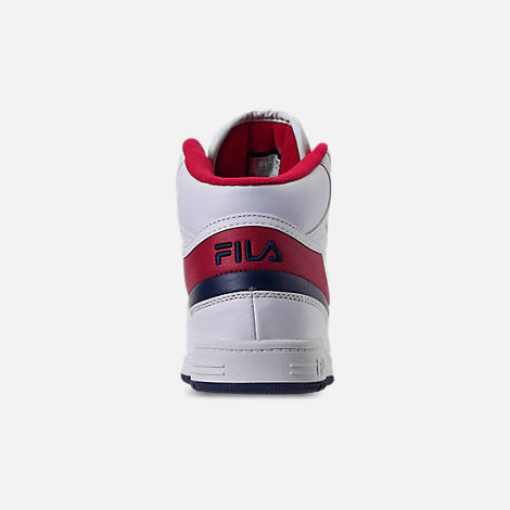 Back view of Men's Fila BBN 84 NS Casual Shoes in White/Footwear Navy/Red