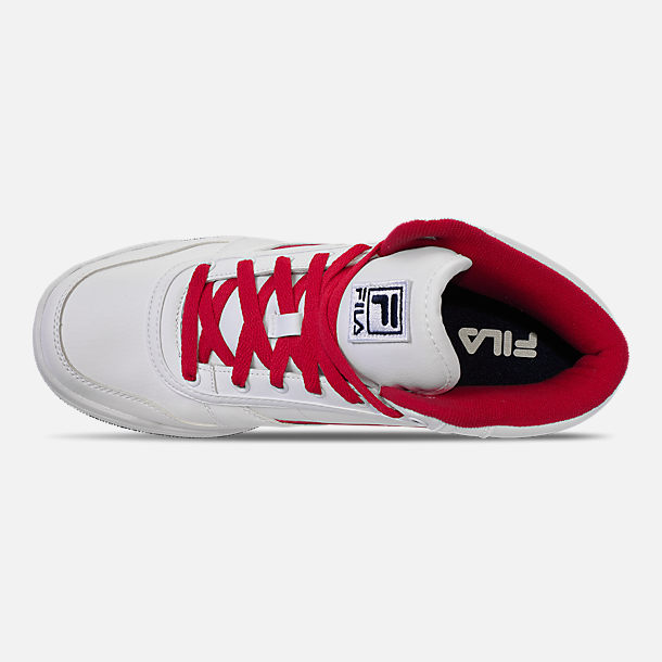 Top view of Men's Fila BBN 84 NS Casual Shoes in White/Footwear Navy/Red