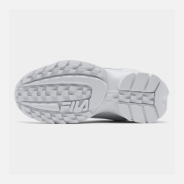 Bottom view of Men's Fila Disruptor 2 Premium Casual Shoes in White/White