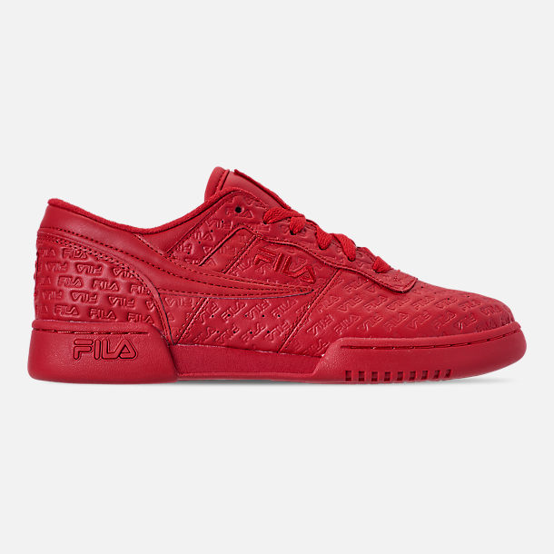 Right view of Men's FILA Original Fitness Small Logo Casual Shoes in Red/Red/Red