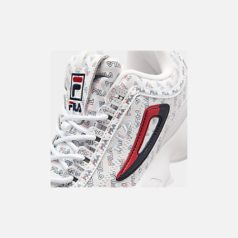 Front view of Men's Fila Disruptor 2 Multi Americana Casual Shoes in White/Fila Navy/Fila Red